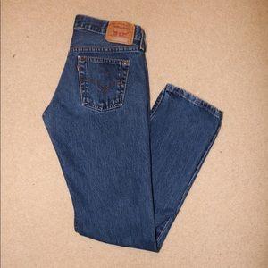 Vintage, low-rise, straight-leg Levi's